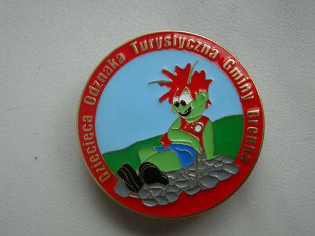 Dziecięca Odznaka Turystyczna Gminy Brenna (kliknięcie spowoduje powiększenie obrazu)